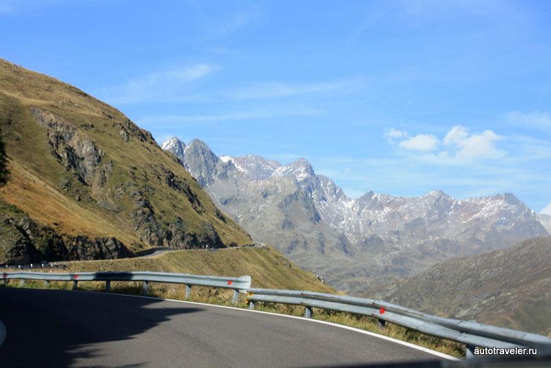 Panorama de la calle Timmelsjoch en Italia