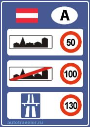 Превышение скорости в австрии