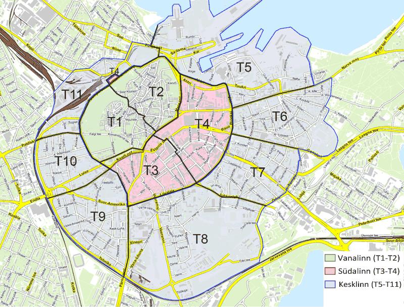 Tallinn parkeringskarta