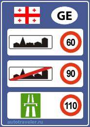 Ограничения скорости в Грузии