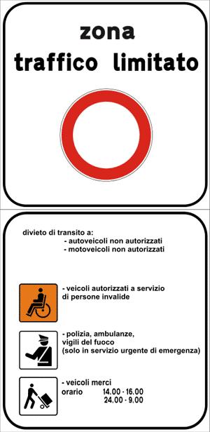 Zona de tráfico limitado en Italia