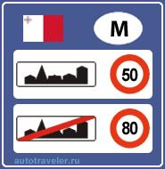 Speed limits in Malta