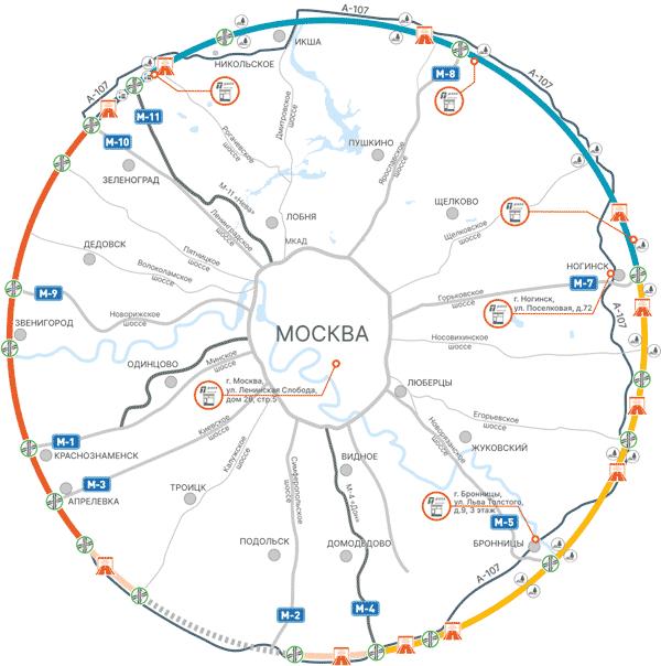 Karta dionica s naplatom cestarine na središnjoj obilaznici 2021