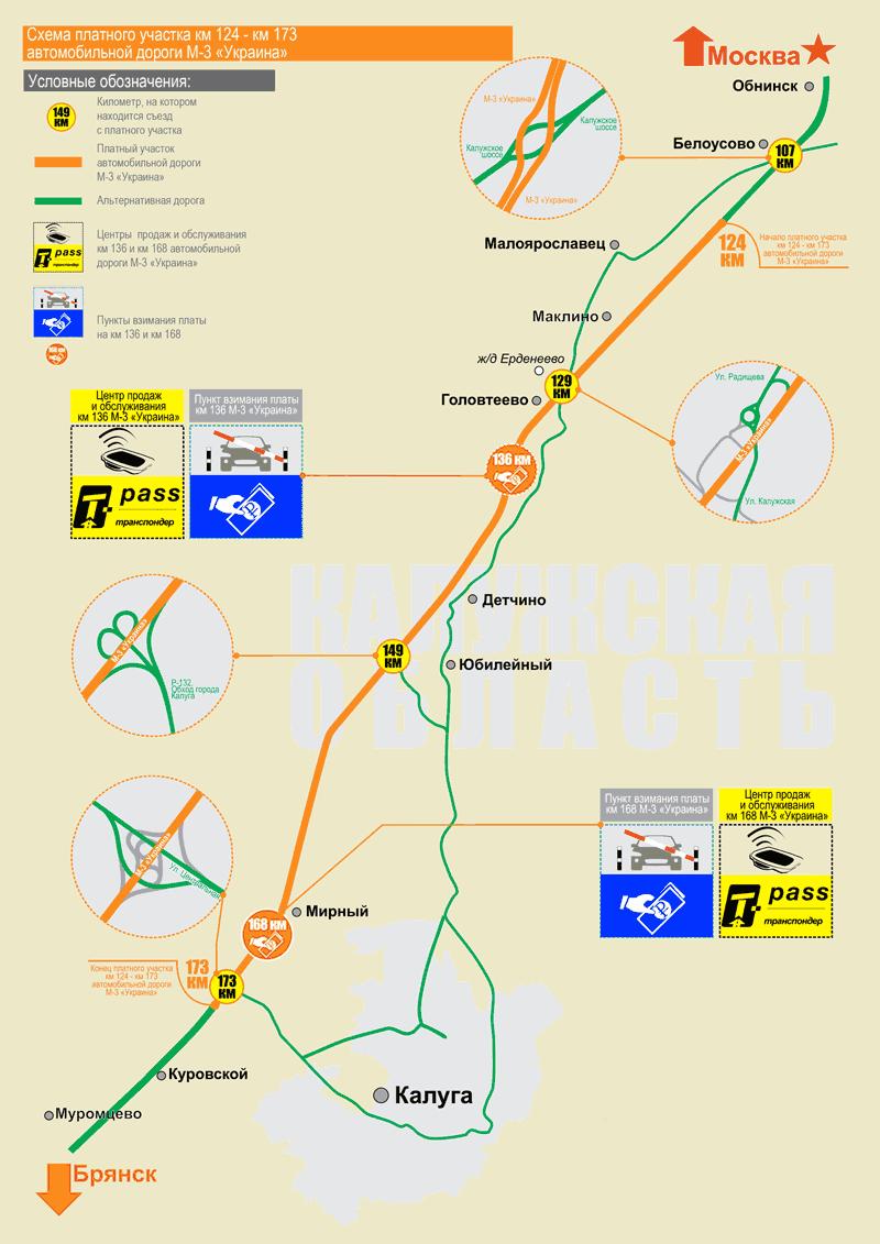 """Karta dionica cestarine autoceste M-3 """"Ukrajina"""" 2018"""