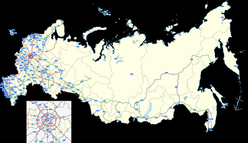 Mapa puta Rusije