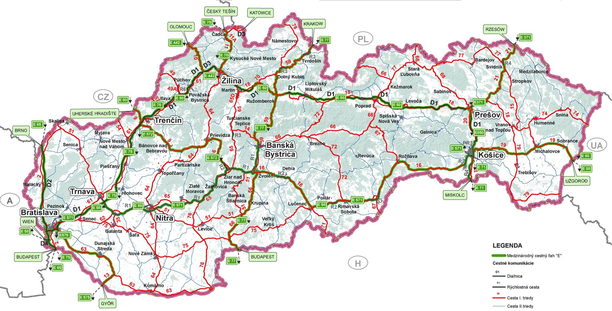 Карта платных дорог в словакии 2019 обучение английскому языку видео уроки с нуля бесплатно