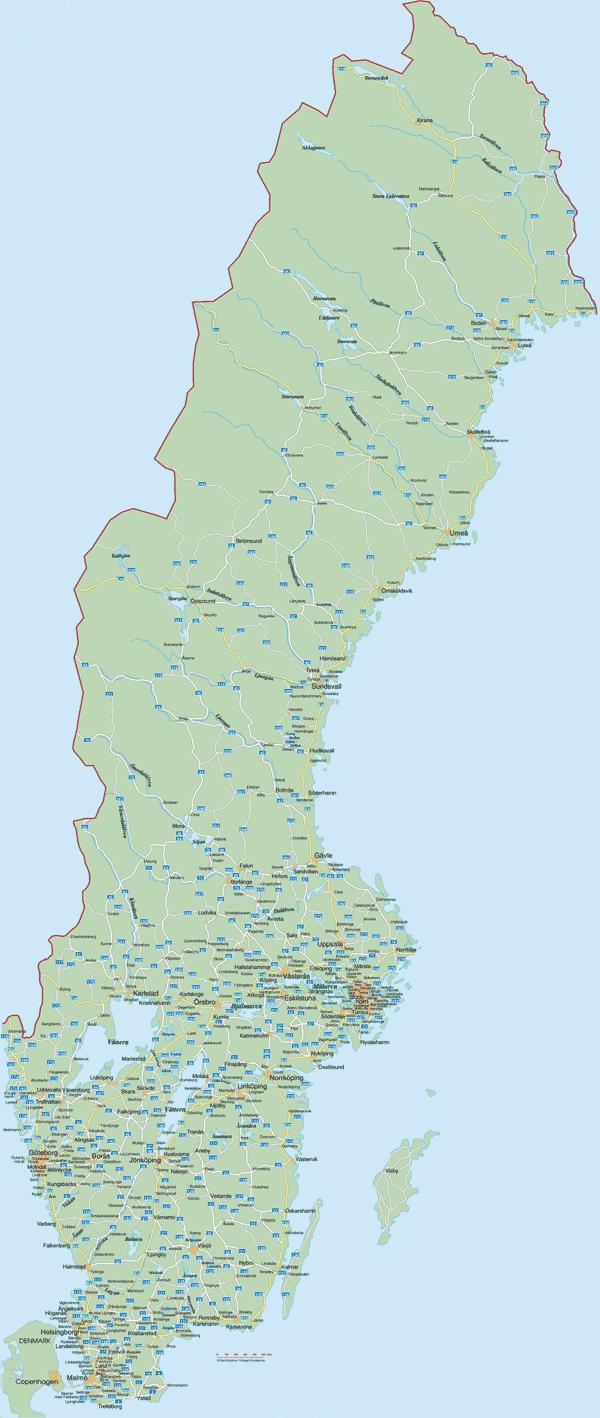 Ruotsin tiekartta